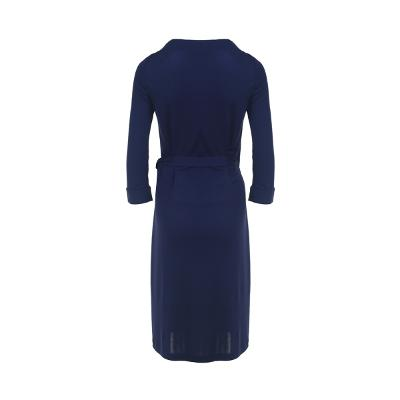 v-neck wrap dress blue